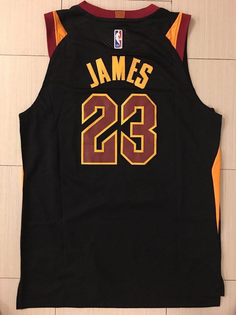 size 40 16959 3d47a Men Cleveland Cavaliers 23 Lebron James Jersey Black ...