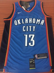 4ded06f0bac6 Men OKC 13 Paul George Jersey Blue Oklahoma City Thunder Swingman Fanatics