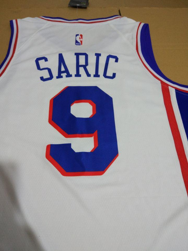 timeless design 32535 75e3a Men 9 Dario Saric Jersey White Philadelphia 76ers Swingman Fanatics