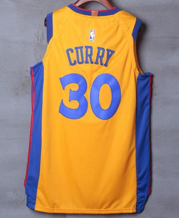 check out b2d68 5e92d Men 30 Stephen Curry the Bay Jersey Yellow Golden State Warriors Player