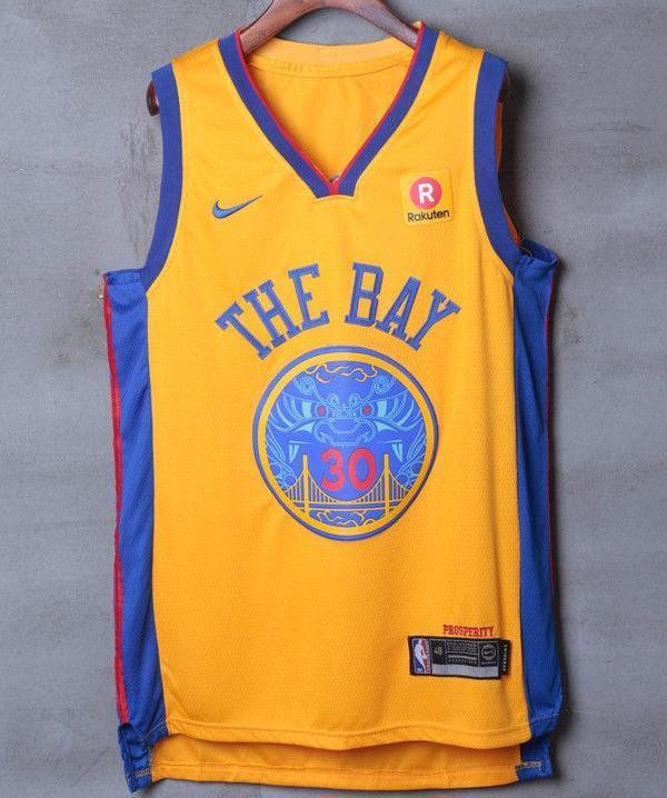 check out 2738a d6783 Men 30 Stephen Curry the Bay Jersey Yellow Golden State Warriors Player