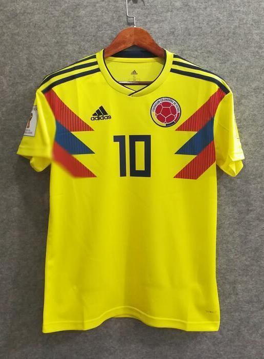 size 40 6abdc e1b14 2018 Men Colombia Jersey Home #10 James Jersey World Cup Jersey Fans
