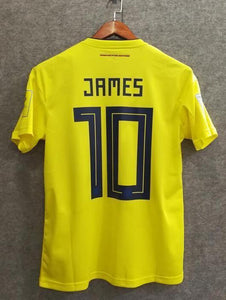 big sale a6dff 6e26f 2018 Men Colombia Jersey Home #10 James Jersey World Cup ...