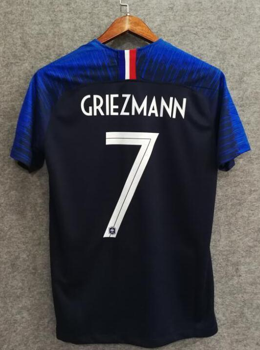 reputable site e04dc 5465a 2018 Men France Jersey Home #7 Griezmann Jersey World Cup Jersey Fans