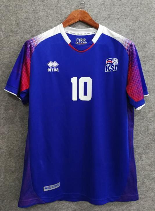db1b79c40 2018 Men Iceland Jersey Home Stadium Soccer World Cup Jersey Fanatics ...