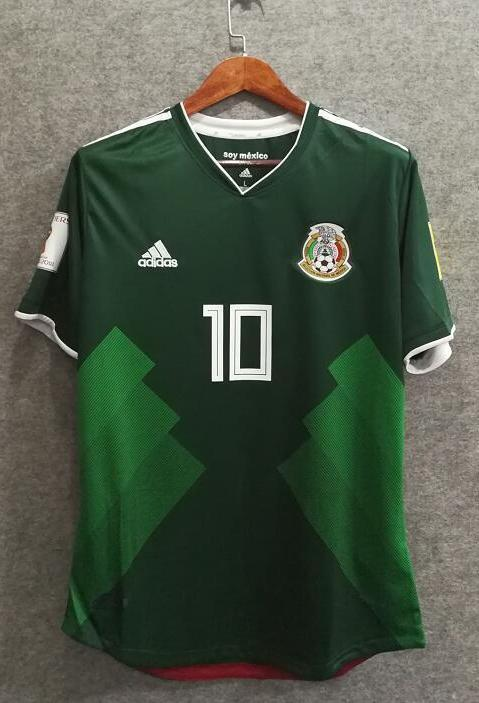 0464c8647 2018 Men Mexico Jersey Stadium Home Soccer Jersey World Cup Jersey Player  ...