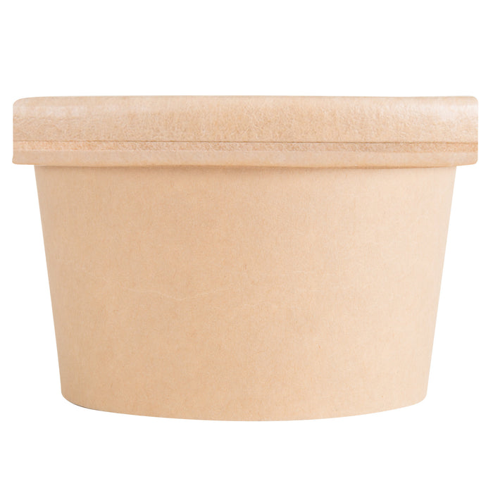 Recipiente de Papel Kraft Compostable con Tapa Ventilada