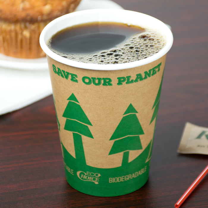 Vaso de Papel Kraft Biodegradable