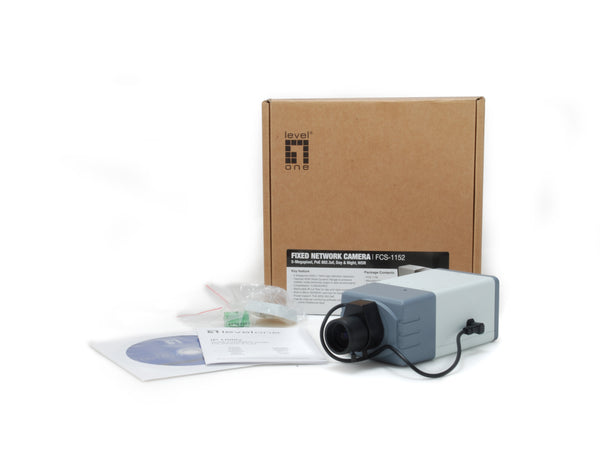 FCS-1152 Fixed Network Camera, 5MP, 802.3af PoE, WDR