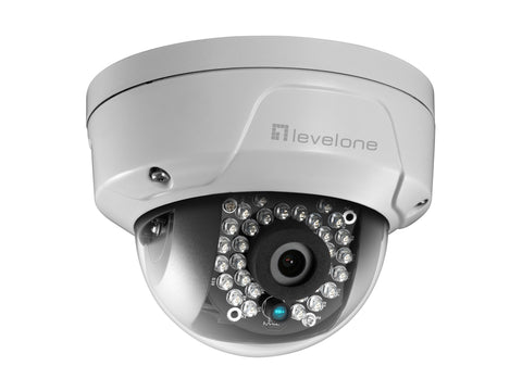 FCS-3086 Fixed Dome Network Camera, 4MP, Vandalproof, WDR, 802.3af PoE, IR LEDs