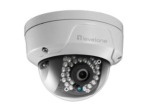 FCS-3087 Fixed Dome Outdoor Network Camera, 5MP, 802.3af PoE, IR LEDs, Outdoor
