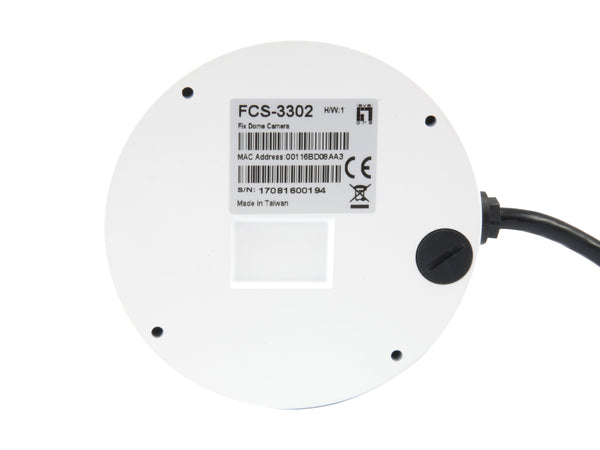 FCS-3302 Fixed Dome IP Network Camera, H.265/264, 3MP, 802.3af PoE