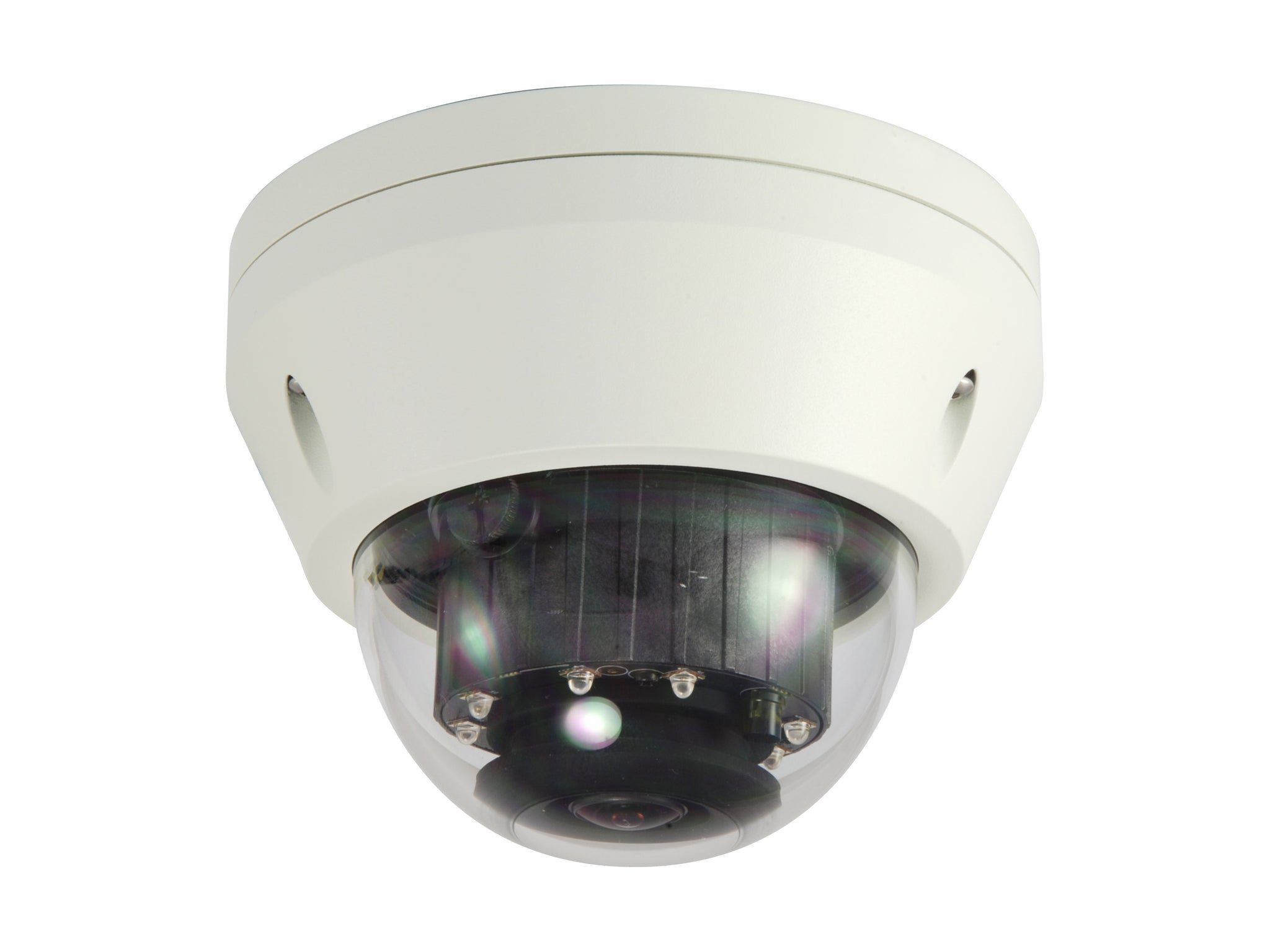 FCS-3306 Fixed Dome IP Network Camera, H.265/264, 3MP, 802.3af PoE, IR LEDs, Indoor/Outdoor, Vandalproof
