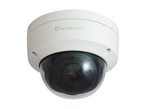 FCS-3402 GEMINI Fixed Dome IP Network Camera, 2-Megapixel, H.265, Vandalproof, 802.3af PoE, Indoor/Outdoor