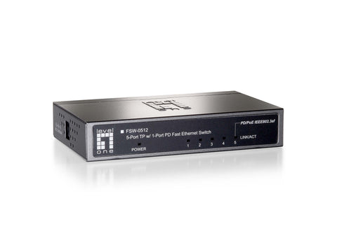 FSW-0512 4FE + 1FE POE PD SWITCH