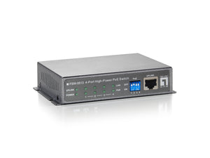 FSW-0513 4-PORT HI-PWR POE SWITCH W/PWR ADAP