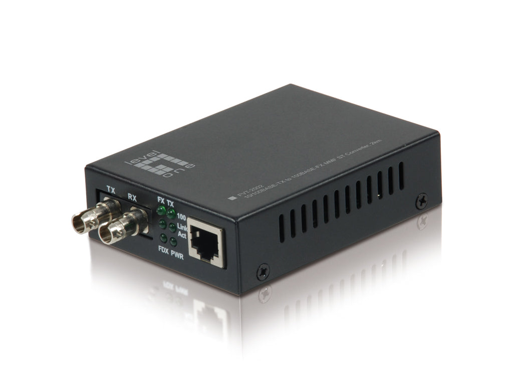 FVT-2002 10/100BASE-TX TO 100BASE-FX MMF ST CONVERTER 2KM