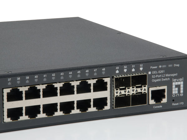 GEL-5261 52-Port L2 Managed Gigabit Switch, 4 x SFP