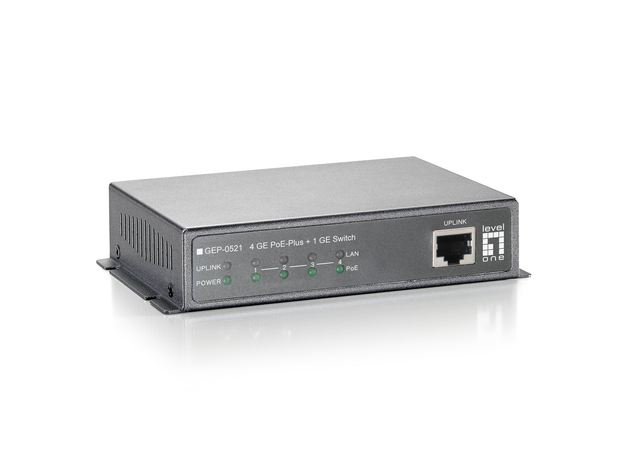 GEP-0521 4GE POE PLUS +1GE SWITCH 120W