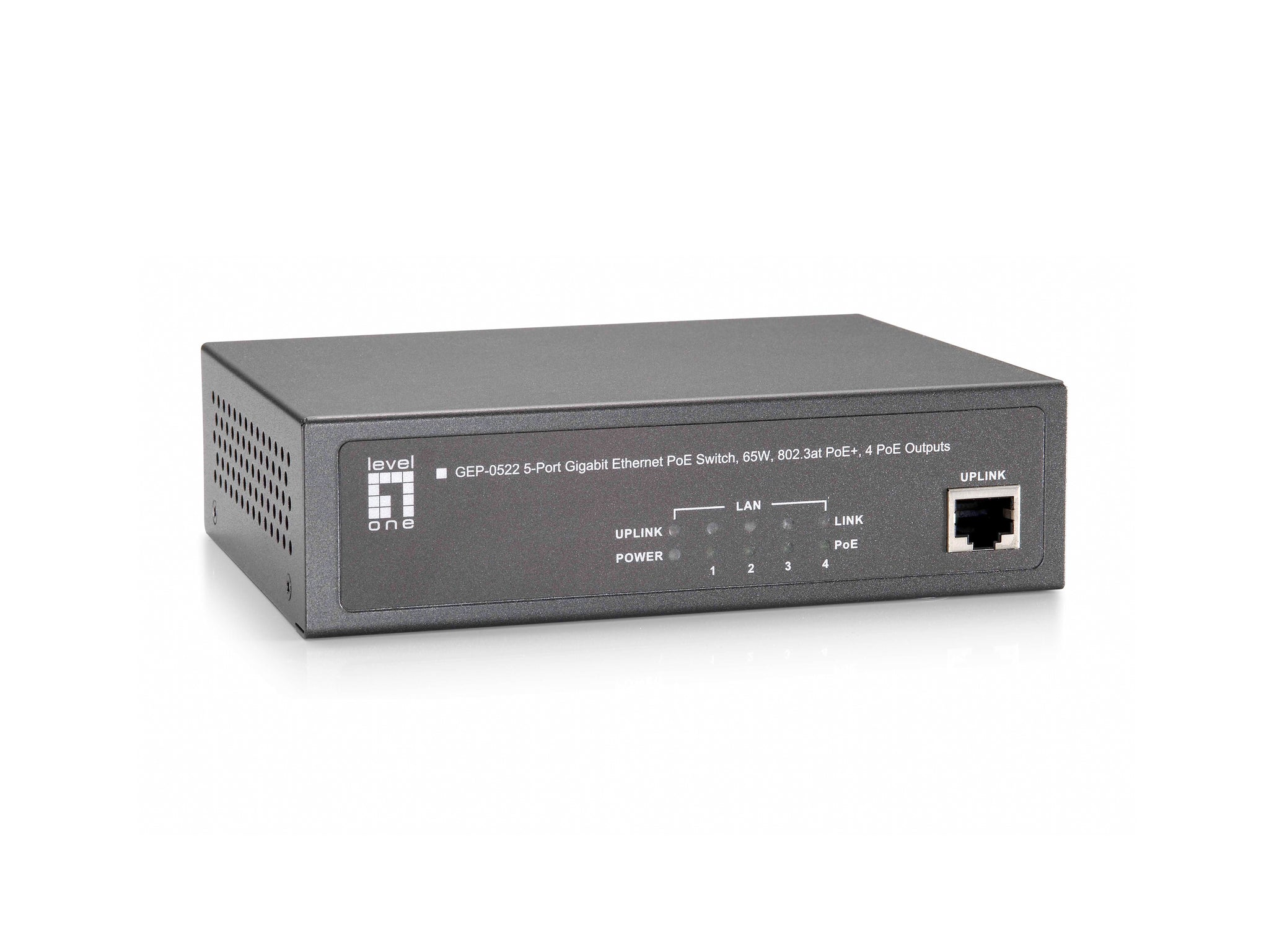 GEP-0522 5-Port Gigabit PoE Switch, 65W, 802.3at P