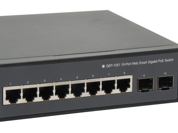 GEP-1051 10-Port Web Smart Gigabit PoE Switch 60W