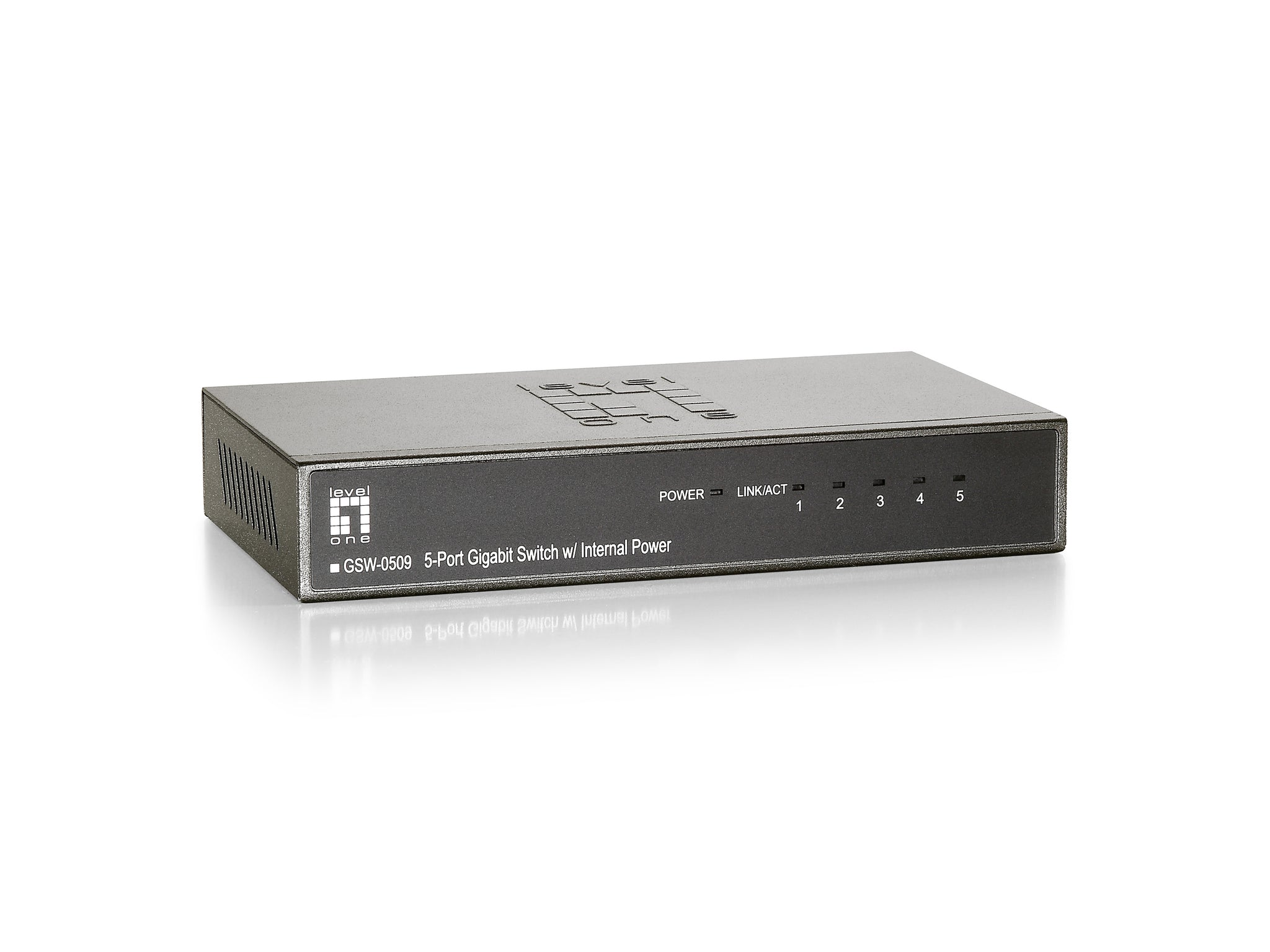 GSW-0509 5PORT GIGABIT SWITCH W/INTERNAL PWR