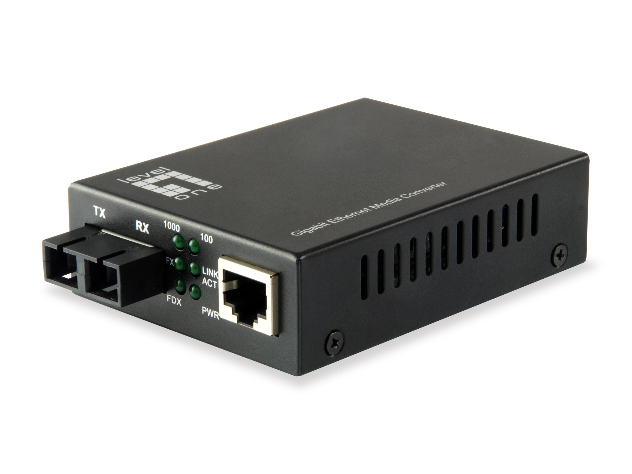 GVT-2002 RJ45 to SC Gigabit Media Converter, Single-Mode Fiber, 20km