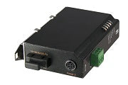 IEC-1420 10/100 Industrial Media Converter w/ PoE PD, SC SM 20KM -10 to 60C