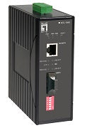 IEC-1840 RJ45 to SC Industrial Media Converter, Single-Mode Fiber, 40km, -40°C to 75°C, IEC61850