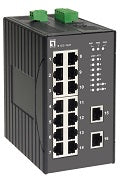IES-1620 16-Port Fast Ethernet Industrial Switch, DIN-Rail, -40°C to 85°C