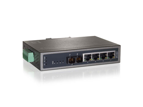 IFE-0501 4 FE PoE + 1 FE Multi-Mode SC Industrial Switch (2km)