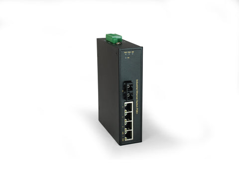 IFP-0502 5-Port PoE, 4 PoE Outputs, 802.3at PoE+, 1 x SC Multi-Mode Fiber, 2km, 126W, -40°C to 75°C