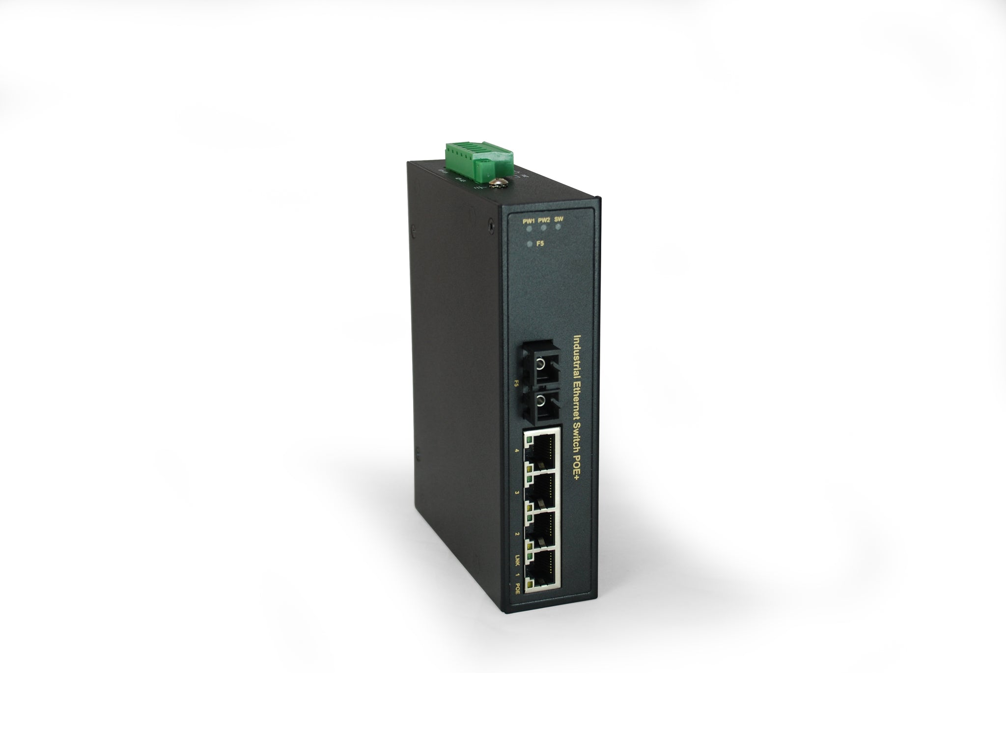IFP-0503 5-Port PoE, 4 PoE Outputs, 1 x SC Single-Mode Fiber, 30km, 126W, -40°C to 75°C