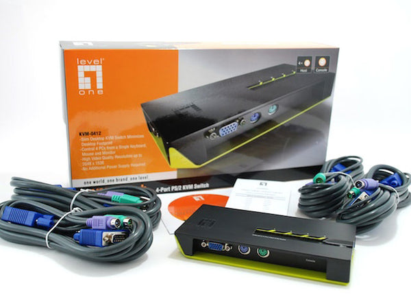 KVM-0412 4 PORT PS/2 KVM SWITCH *