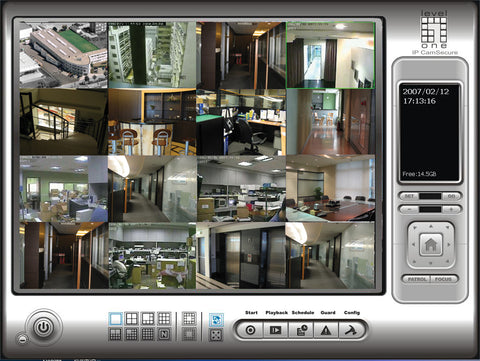 FCS-9416 IP CamSecure Pro Mega Surveillance Software, 16 channels