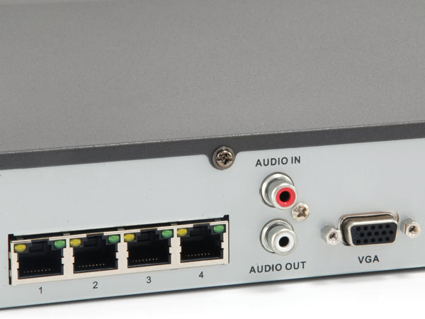 NVR-0504 4-Channel PoE Network Video Recorder
