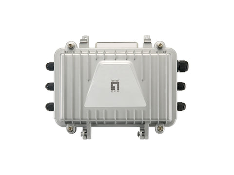 PFE-1014R PoE over Hybrid Fiber Outdoor Receiver, 4 PoE Outputs