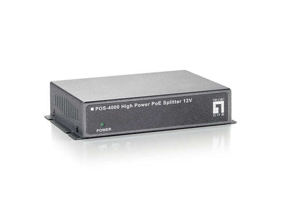 LEVELONE POS-4000 HIGH POWER POE SPLITTER (12V)