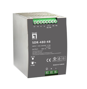 POW-4860 Industrial Power Supply, 48VDC, 480W, DIN-Rail, PoE Ready