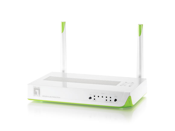 LEVELONE WBR-6020 WIRELESS N 300MBPS GREEN ROUTER  *