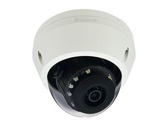FCS-3307 Fixed Dome IP Network Camera, H.265/264, 5-Megapixel, 802.3af PoE, IR LEDs, Indoor/Outdoor, Vandalproof