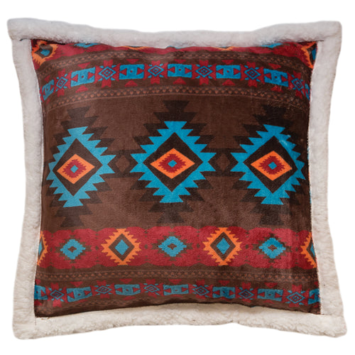 Wrangler Southwest Horizon Sherpa Fleece Throw Pillow