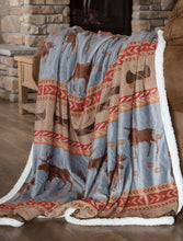 Load image into Gallery viewer, Moose Tracks Sherpa Fleece Throw Blanket