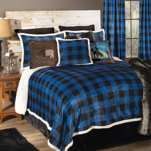 Wrangler Blue Lumberjack Plaid