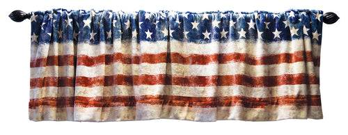 Wrangler Stars & Stripes USA American Flag Curtain Valance