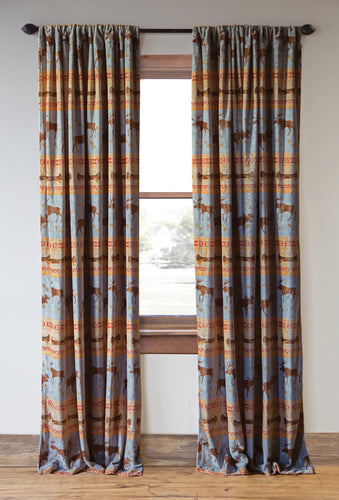Moose Tracks Curtain Panels (Set of 2)