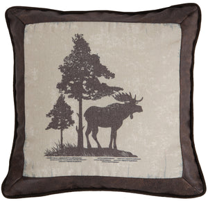 Vintage Moose Throw Pillow