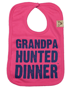 Girl's Grandpa Hunted Dinner Bib