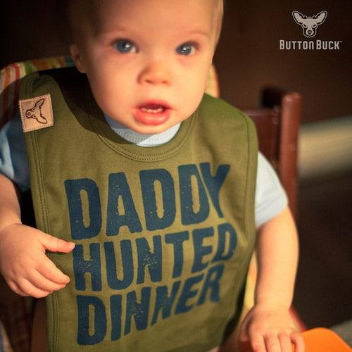 Boys Daddy Hunted Dinner? bib