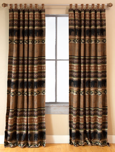 Saranac Lodge Rustic Curtain Panels (Set of 2)